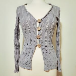 Royal Robbins Traveler Crochet Knit Cardigan M